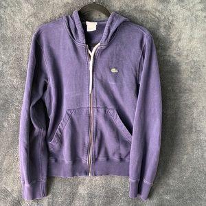 Women's Lacoste blue hoodie